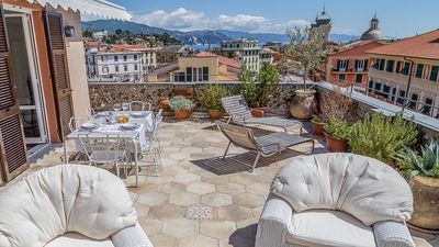Photo for PENTHOUSE APARTMENT WITH TERRACE TEN MINUTES FROM PORTOFINO