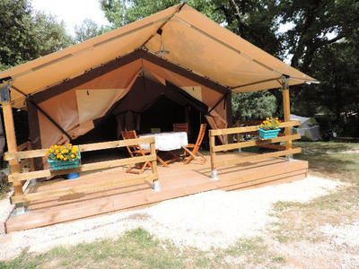 Photo for Camping La Buissière *** - Tent Lodge 3 Rooms 5 People