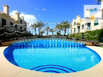 Photo for LUXURY TOWNHOUSE ON THE ARENAL BEACH OF JAVEA WITH SWIMMING POOL