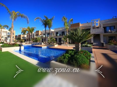 Photo for La Zenia Beach Luxurious GroundFloor in front of Swimming Pool 4 or 8 persons