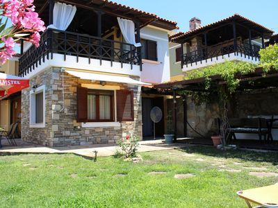 Photo for Fantastically located holiday house directly at the sea, Wifi | Nikiti, Chalkidi