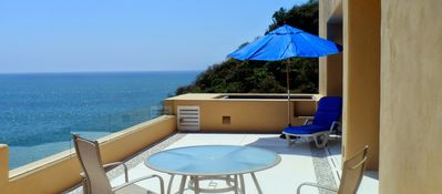 Large terrace with a plunge pool.
