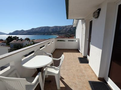 Photo for Apartments Goga with Terrace and Sea View / Apartment Goga for 2-3 Persons in Quiet Area