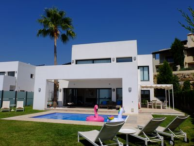 Photo for Family Friendly Contemporary Villa, near to golf with fantastic views
