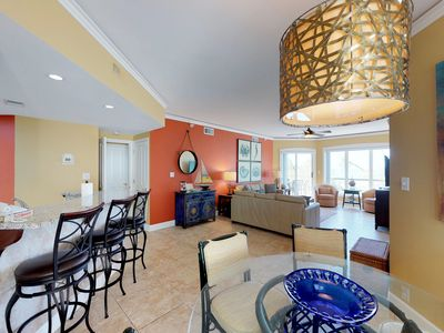 Photo for Vacation in this oceanfront villa with shared pools, hot tub, easy beach access