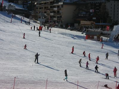 Photo for this apartment is located at the foot of the slopes