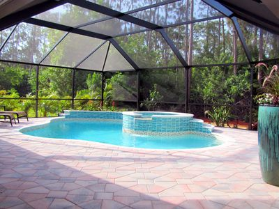 Photo for TWO MASTER SUITES Heated Pool+Spa BEACH Home Private Comm IN NAPLES, Walk to