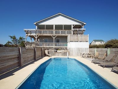 Photo for SEMI-OCEANFRONT! 4 BEDROOMS, GREAT VIEWS, PRIVATE POOL, HOT TUB & BASKETBALL!