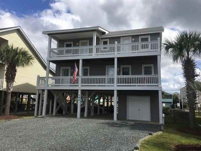 Photo for Beach Bells - Unique Canal Home with Gazebo on the Private Floating Dock!