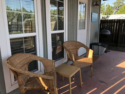 Enjoy the shade on the front porch and watch the hummingbirds.