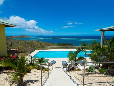 Photo for Pura Vida Culebra; breathtaking ocean view luxury 5 bedroom with pool property