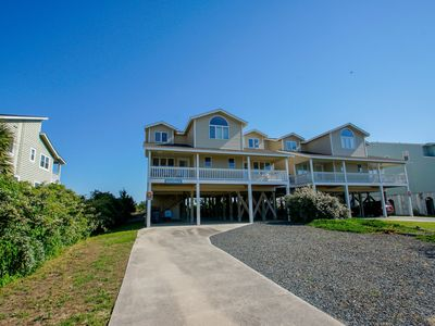 """Photo for Oceanfront """"Boardwalk"""" is a 6 Bdrm/5.5 Bath in the private, gated west end of Holden Beach."""