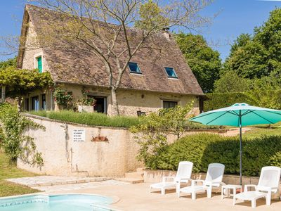 Photo for Beautiful farmhouse with swimming pool, large garden, playground and beautiful view.