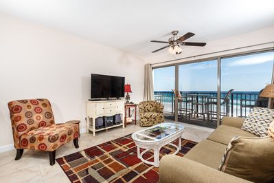 This unit, 3006, has this view from the living AND master rooms - All guests of Emerald Towers West can enjoy this beautiful beachfront view from their unit.