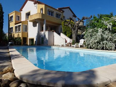 Photo for Large house, shaded garden with pool