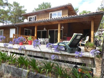 Photo for VILLA 300m FROM THE OCEAN, AND CLOSE TO LAKE MAUBUISSON FACING THE FOREST