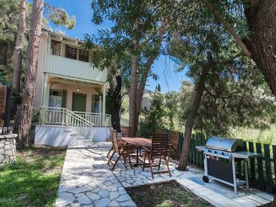 Photo for Beautiful villa with private pool just 50 meters from the sea