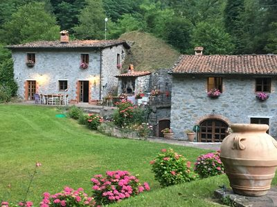 Photo for Tuscany, Bagni di Lucca -Lucca - Stone Cottages on the River