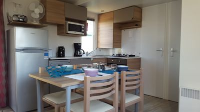 Photo for Mobile Home 6/8 p nine comfortable Camping 4 * Les Charmettes La palmyre