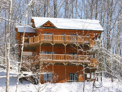 Photo for Fantastic Views of the Mountains from this Luxury 4 Bedroom Cabin