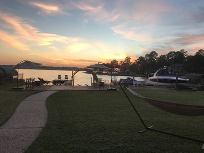 Photo for Beautiful Luxury Waterfront House in Walden on Lake Conroe!
