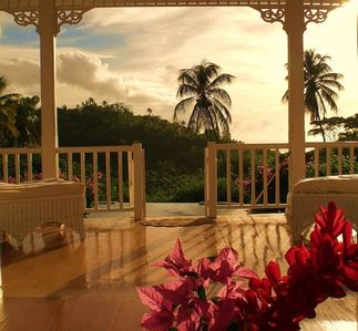 Photo for Stunning, idyllic, Caribbean style 3 bedroom villa in one acre of lush gardens.
