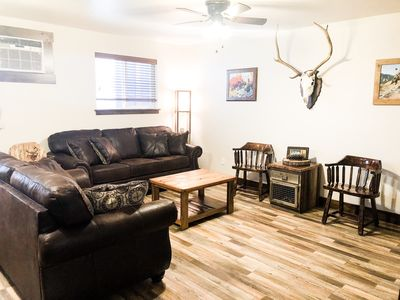 Photo for Downtown Bigfork - The Hunter-themed condo in the American Building