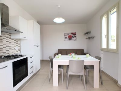 Photo for Located in the marina of Torre San Giovanni, the apartment, beautifully furnished.