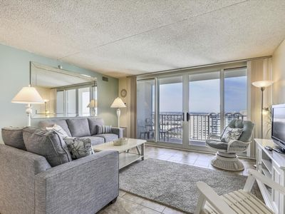 Photo for FREE DAILY ACTIVITIES! Beautiful,updated 2bed/2bath condo on upper floor. Great views of bay & ocean from private balcony.