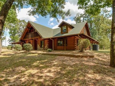 Photo for Beautiful Log Home Tucked into the Woods of Canton, Texas - Sleeps 20+