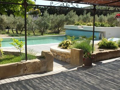 Photo for Beautifully reformed house amid the olive trees. Exit Eyguières, heated pool