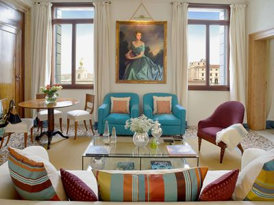 Photo for 🏆Dreamy Luxury Grand Canal Salute Views Terrace San Marco AC Service Washer Wi
