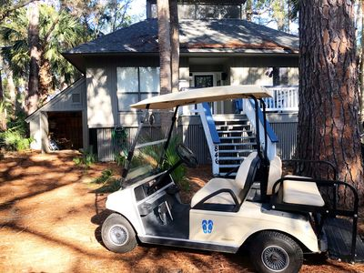 Photo for Golf cart included, amenity cards avail, Private neighborhood pool & crab dock