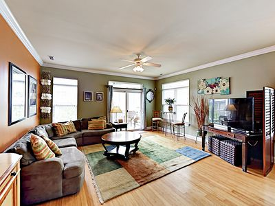 Photo for Stylish Condo w/ 2 Balconies - 350 Yards to Beach, 1 Block to Lake Park  Blvd