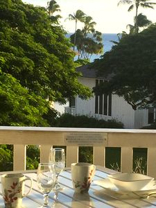The newly furnished Lanai is the perfect place to begin and end your day