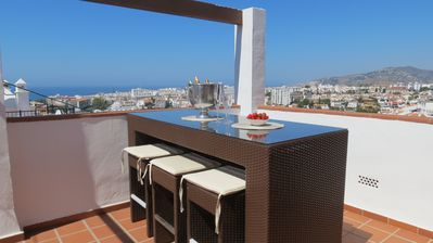 Photo for Large penthouse in Nerja with fantastic sea views near burriana beach