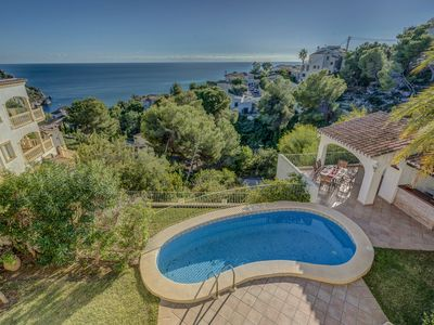 Photo for Villa Sea View - Stunning sea views, Wifi, air conditioning and a swimming pool
