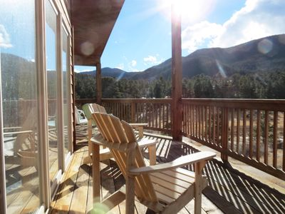 Photo for Casa Del Cielo - Gorgeous Views of Twin Sisters, Longs Peak & Lily Mountain! -- EV #3212