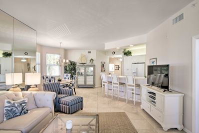 Up to 6 guests will enjoy lounging in the 1,600-square-foot condo.