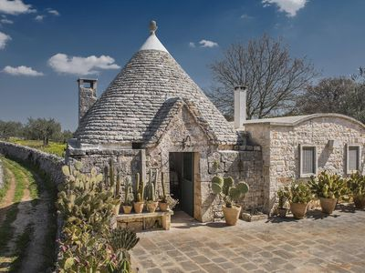 Photo for Trullo with private pool and outdoor kitchen 20 km from the sea
