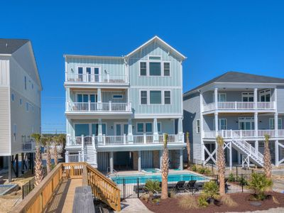 Photo for This Is The Life, Luxury Oceanfront Beach House in Cherry Grove with Pool, Hot Tub and Game Room