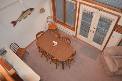 view of dining room from 1st loft