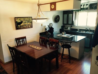 Kitchen-Granite Counter Tops; New Sink & New Dining Table expands to seat 8.