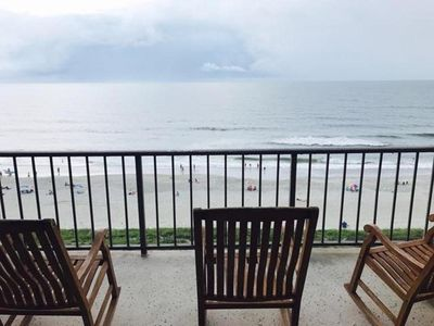 Photo for Wrightsville Beach Oceanfront - Station One 8E -top floor, pool, tennis, beach