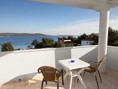 Photo for Studio flat with terrace and sea view Sevid (Trogir)