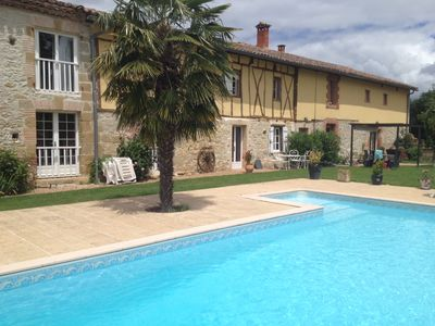 Photo for GITES IN THE COUNTRYSIDE, WITH SWIMMING POOL, SPA, SAUNA AND ROOM OF SPORT FROM 2 TO 17 PEOPLE