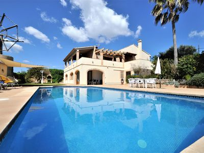 Photo for ES MOLÍ NOU- Rustic House for 6 people in Son Servera. Majorca. 3 bedrooms. Private pool. Air conditioner. Satellite TV. -00045- - Free Wifi