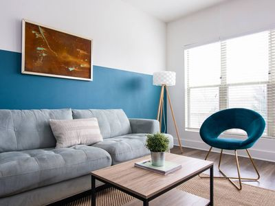Photo for Relax from your Modern Apt Minutes to Broadway!