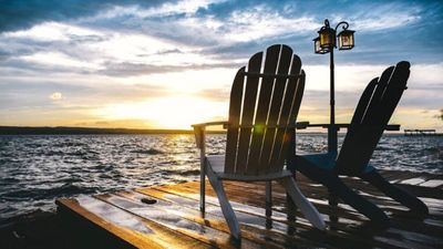 Photo for Stunning Lake House Right On The Water - Huge Deck, Amazing Views And Sunsets