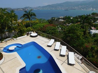 Photo for Beautiful house in Las Brisas with a double terrace and ocean view.